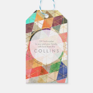 PixDezines WATERCOLOR GEOMETRIC TRIANGLES Gift Tags