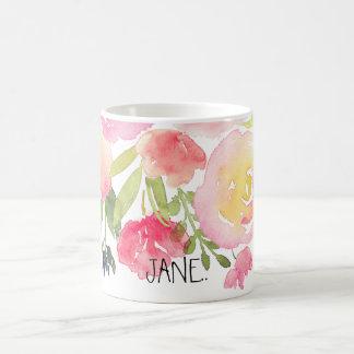 PixDezines Watercolor Spring, Peonies Bouquet Coffee Mug