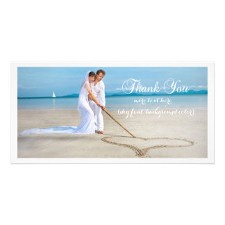 PixDezines wedding photo DIY font thank you Card