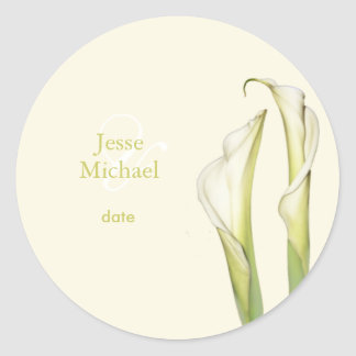 PixDezines white calla lilies diy background Stickers