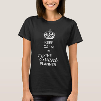 PixDezines White Crown/Keep Calm/DIY text T-Shirt