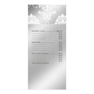 PixDezines White Damask, Spa Menu