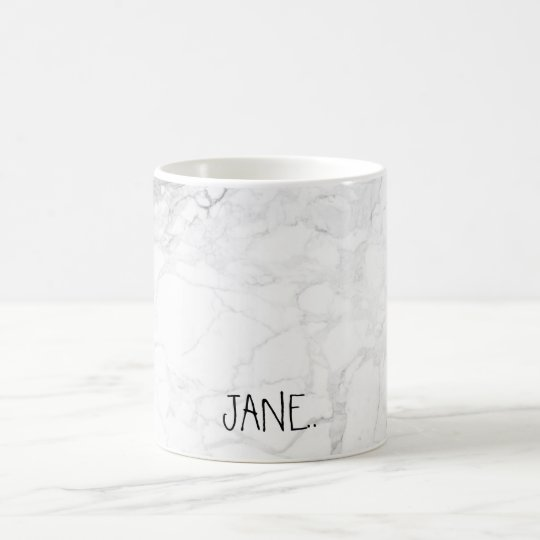 PixDezines WHITE MARBLE Coffee Mug