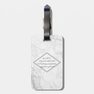 PixDezines White Marble Luggage Tag