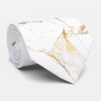 PixDezines White Marble Slab+Gold Veins Tie