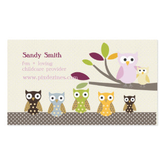 PixDezines Whoot s Daycare Business Cards