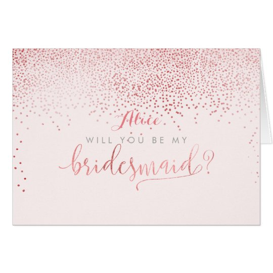 PixDezines Will You Be My Bridesmaid, Faux Foil