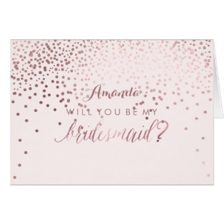 PixDezines Will You Be My Bridesmaid Note Card