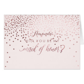 PixDezines Will You Be My Maid of Honor Note Card