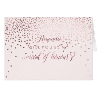 PixDezines Will You Be My Maid of Honour Note Card