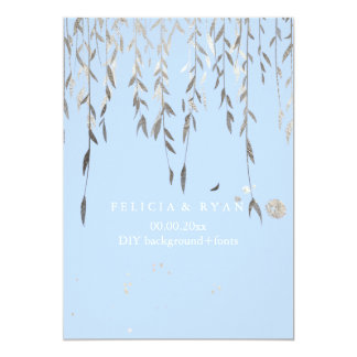 PixDezines Willow/Faux Silver/DIY background 13 Cm X 18 Cm Invitation Card