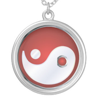 PixDezines Yin Yang, Silver Blue Custom Jewelry