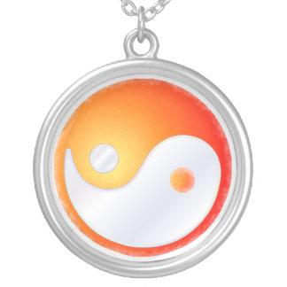 PixDezines Yin Yang, Sunrise Round Pendant Necklace