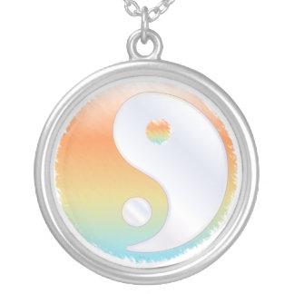 PixDezines Yin Yang, Sunset at the Beach Round Pendant Necklace