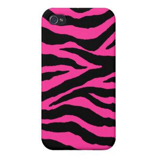 PixDezines Zebra , Black+Hot Pink iPhone 4 Covers