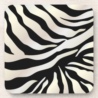 PixDezines Zebra print/DIY colors Coaster