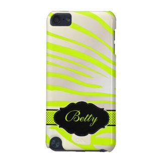 PixDezines Zebra Print/Monogram/DIY Color! iPod Touch (5th Generation) Case
