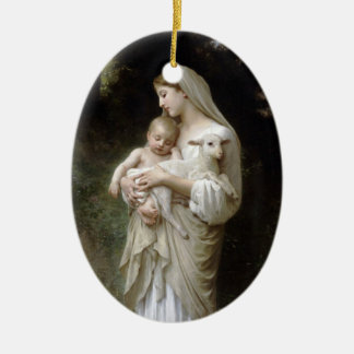 PixDezinves L'innocence by Bougeureau painting Ceramic Oval Decoration