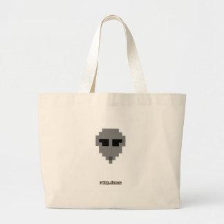 Pixel_Alien Canvas Bag