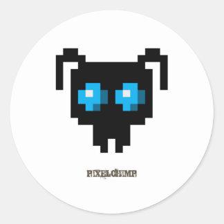 Pixel_Ant_Blue Classic Round Sticker