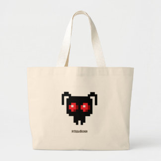 Pixel_Ant_Red Tote Bags