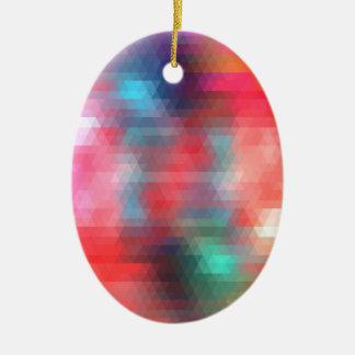 pixel art 1 ceramic oval decoration