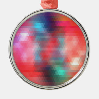 pixel art 1 Silver-Colored round decoration