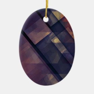 pixel art 5 ceramic oval decoration