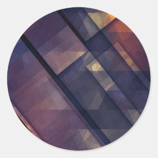 pixel art 5 round sticker