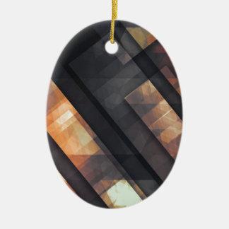 pixel art 6 ceramic oval decoration