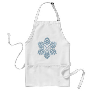 Pixel art Blue snowflake Standard Apron