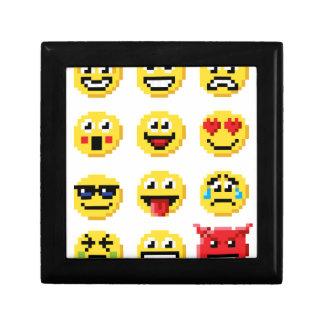 Pixel Art Emoji Emoticon Set Small Square Gift Box