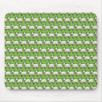 Pixel Art Flock of Sheep Pattern Mouse Mat
