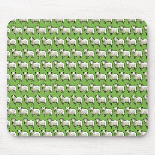 Pixel Art Flock of Sheep Pattern Mouse Mat