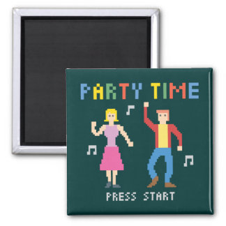 Pixel Art Party Time Magnet