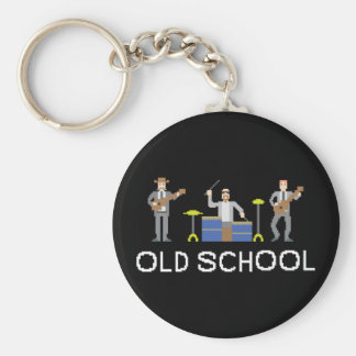 Pixel Art - Power Trio - White Letters - Keychain