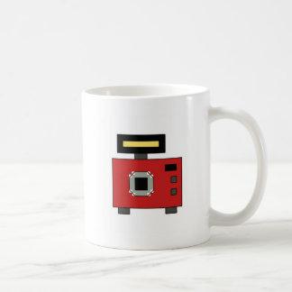 Pixel art retro camera coffee mug