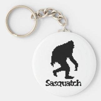 Pixel Art Sasquatch Basic Round Button Key Ring