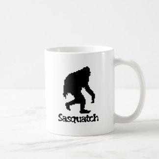 Pixel Art Sasquatch Basic White Mug