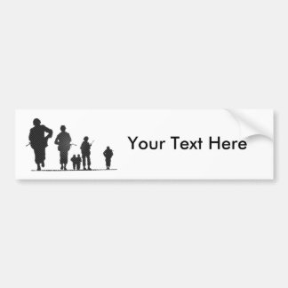 Pixel Art Soldiers Silhouette Bumper Stickers