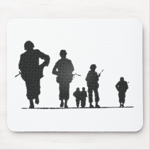 Pixel Art Soldiers Silhouette Mousepads