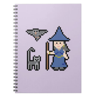 Pixel Art Witch Notebook