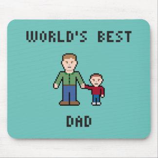 Pixel Best Dad Mousepad Mouse Pad