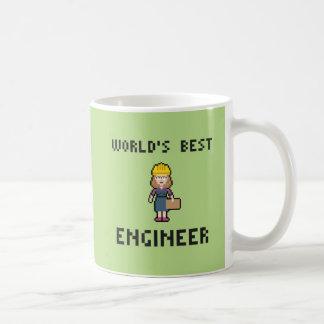 Pixel Best Female Engineer Coffee Mug