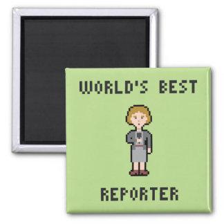 Pixel Best Female Reporter Square Magnet
