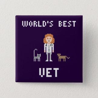 Pixel Best Female Vet Button