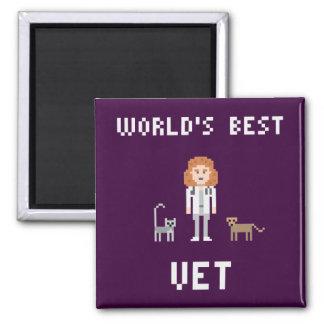 Pixel Best Female Vet Magnet 2 Inch Square Magnet