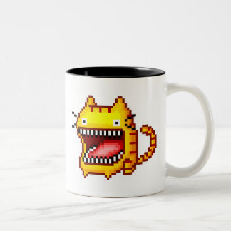 Pixel Big-Mouthed Cat Mug
