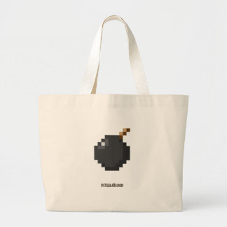 Pixel_Bomb Canvas Bag