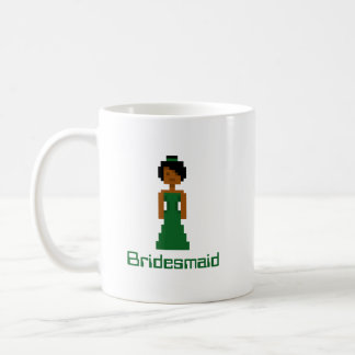 Pixel Bridesmaid 2 Basic White Mug